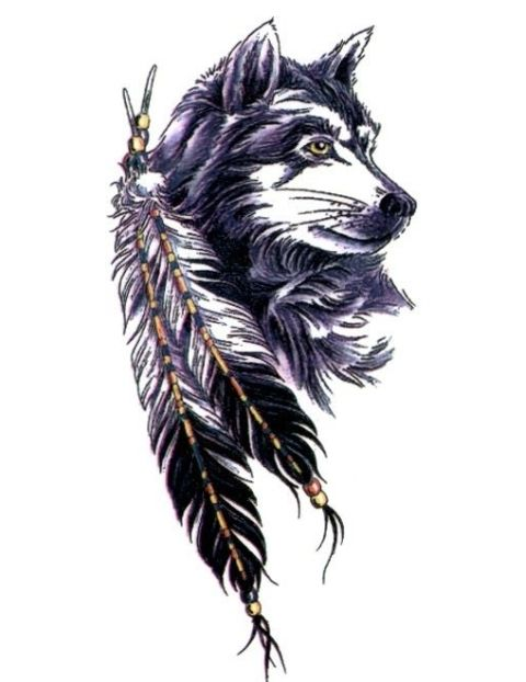 Howling Wolf Tattoo With Feather Google Search Howling Wolf Tattoo Wolf Tattoo Design Wolf Tattoo