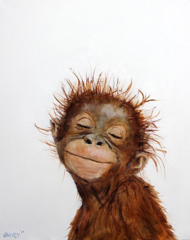 Little Orangutan 2 print on canvas
