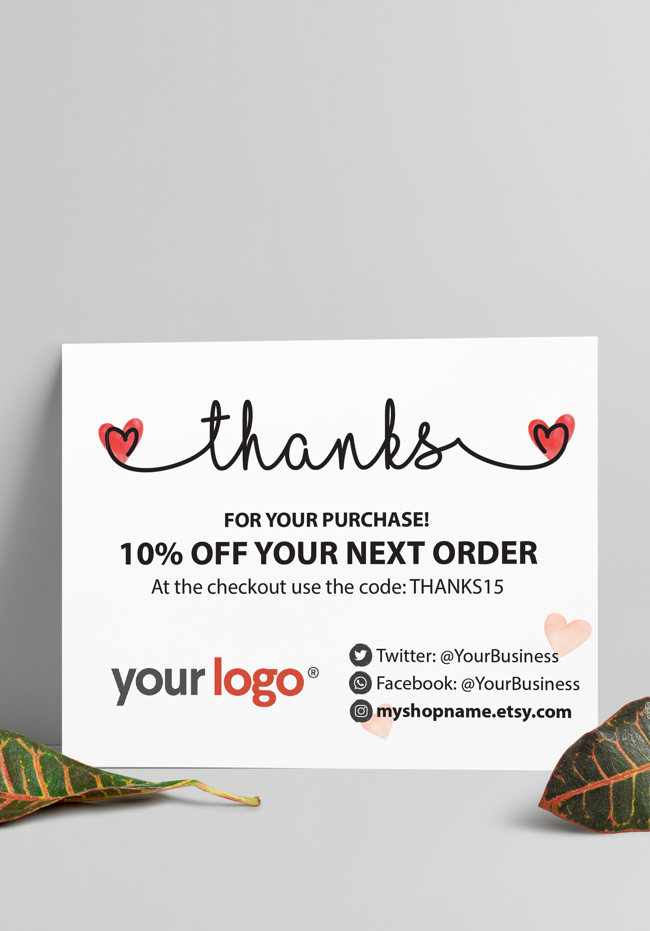 Printable Thank You Card for Small Business #businessthankyoucards