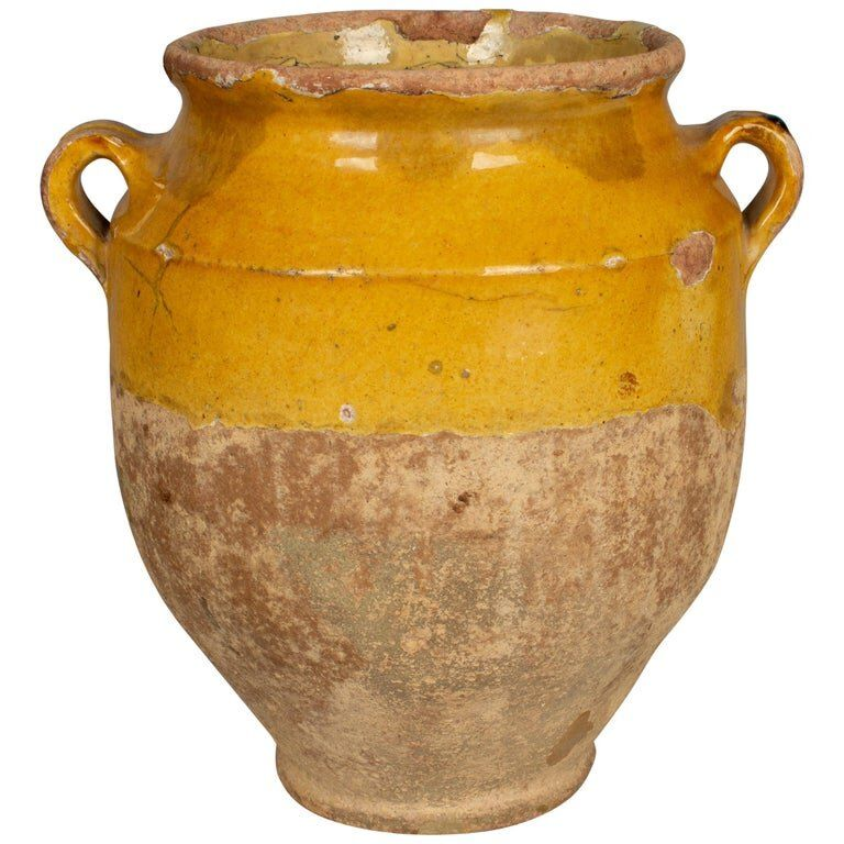 French Terracotta Confit Pot In 2020 French Terracotta French Pottery French Antiques