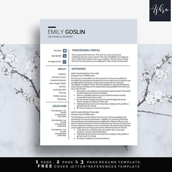 Buy One Get One Free Modern Resume Template Professional   Jobs