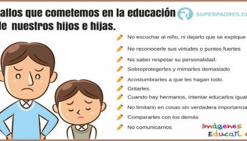 10 Fallos que cometemos en la educación de nuestros hijos e hijas.