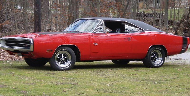 Example Of Bright Red Paint On A 1970 Chrysler Charger R T 440