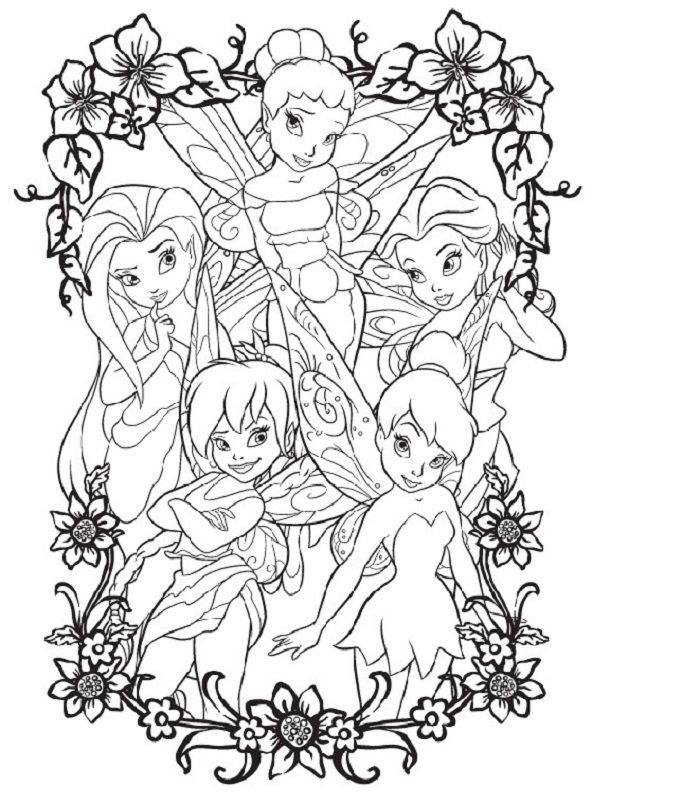 Free Printable Disney Fairies Coloring Pages For Kids Tinkerbell Coloring Pages Fairy Coloring Pages Disney Coloring Pages
