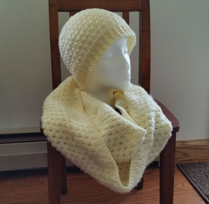 Cream Clusters Infinity Scarf Free Crochet Pattern Highland Hickory ...