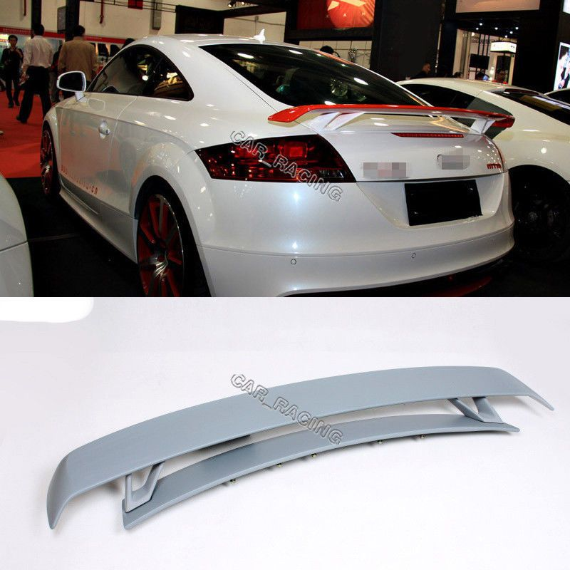 For Audi TT MK2 Type 8J 07-12 FRP Fiber RS Style Rear Spoiler Wing With base