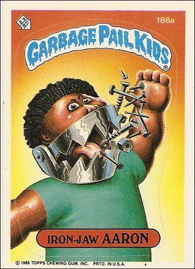 Garbage Pail Kids Series 05 186a A Jan 1986 Trading Card By Topps Garbage Pail Kids Garbage Pail Kids Cards Garbage