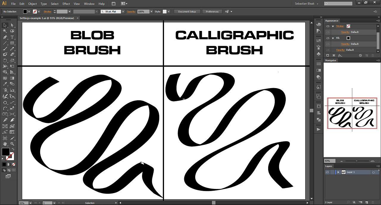 N S L: WEEK 91 – Adobe Illustrator CS6: Calligraphic Brush