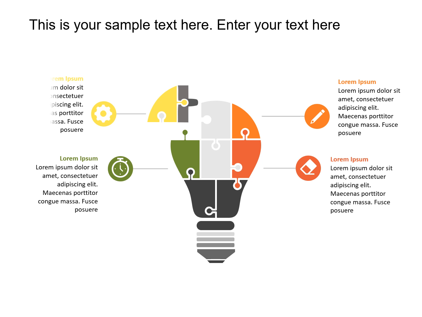 Animated Bulb Strategy PowerPoint Template