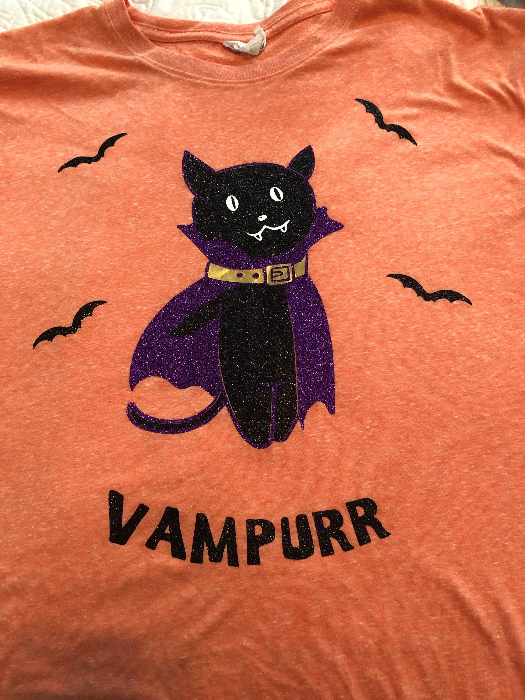 Vampurr, Halloween Black Cat Funny, SVG file, Funny