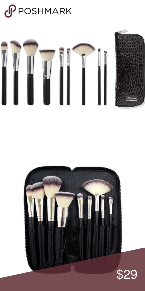 Morphe 9 Piece Vegan Brush Set Morphe 9 Piece Vegan Brush Set Includes Powder Brushes Eyeshadow Brushes Brush Set Makeup Brushes Morphe Makeup Tools Brushes Morphe's vegan series is constructed of the highest grade japanese synthetic bristles. pinterest
