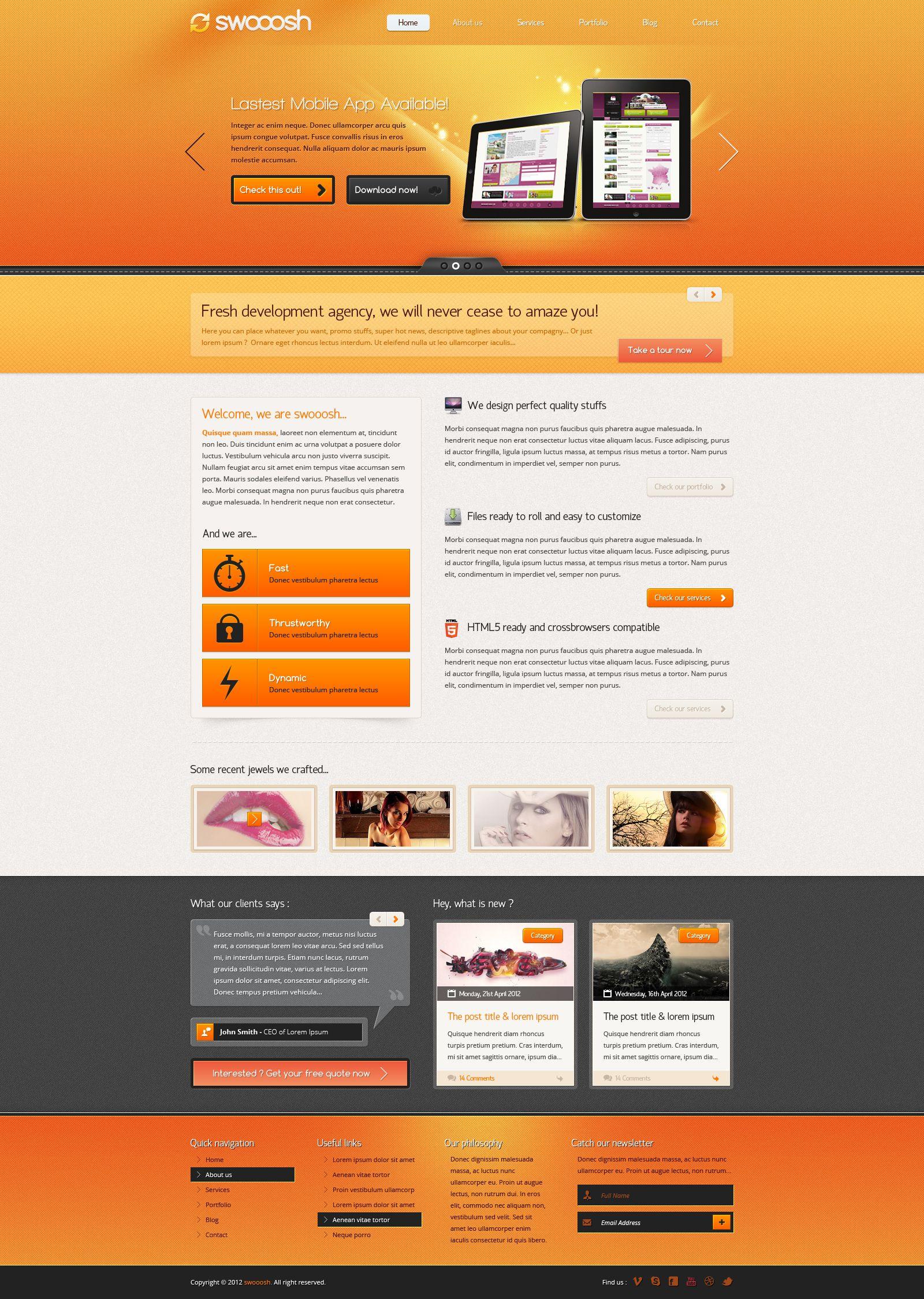 Swooosh Colorful And Multipurpose Psd Template 2 Psd Templates Web Design Inspiration Website Design Inspiration