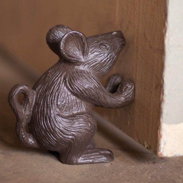 Cast Iron Door Stop Decorative Stops Mouse