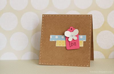 Cards by Fran - Tag Love #card #scrapbook