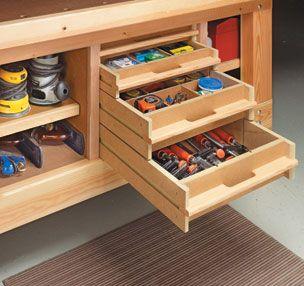 Workshop Storage Woodsmith Plans Shop Cabinets Drawers Doors