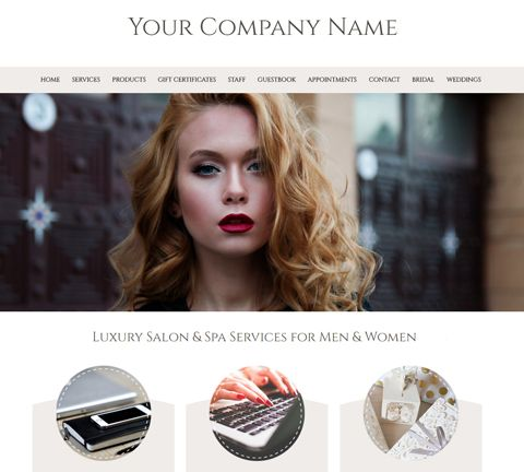 Pure White Website Design Template for Hair Salons and ...