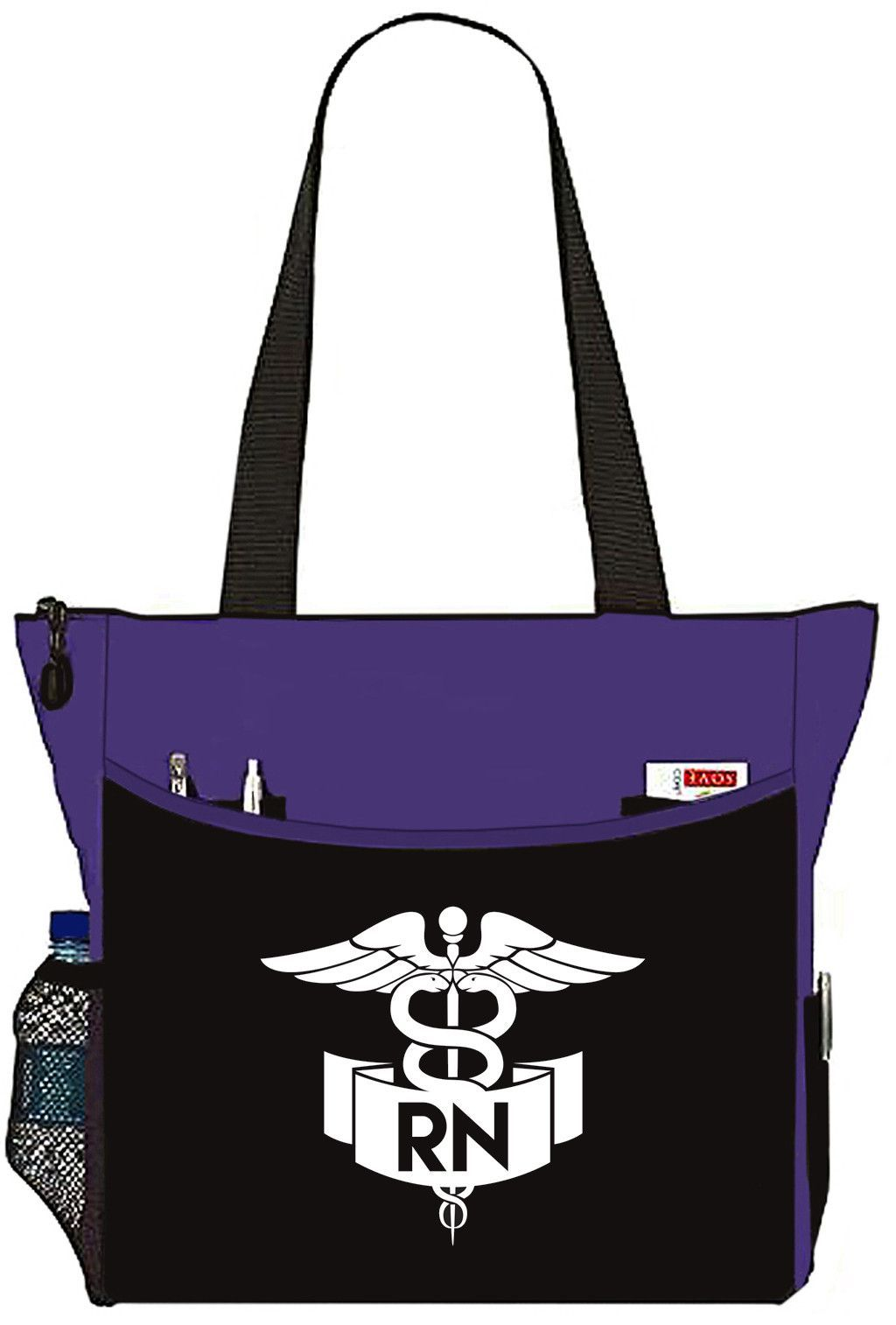 Purple Nurse Bag With Rn Banner Caduceus Tote Handbag Great Gifts For Nurses