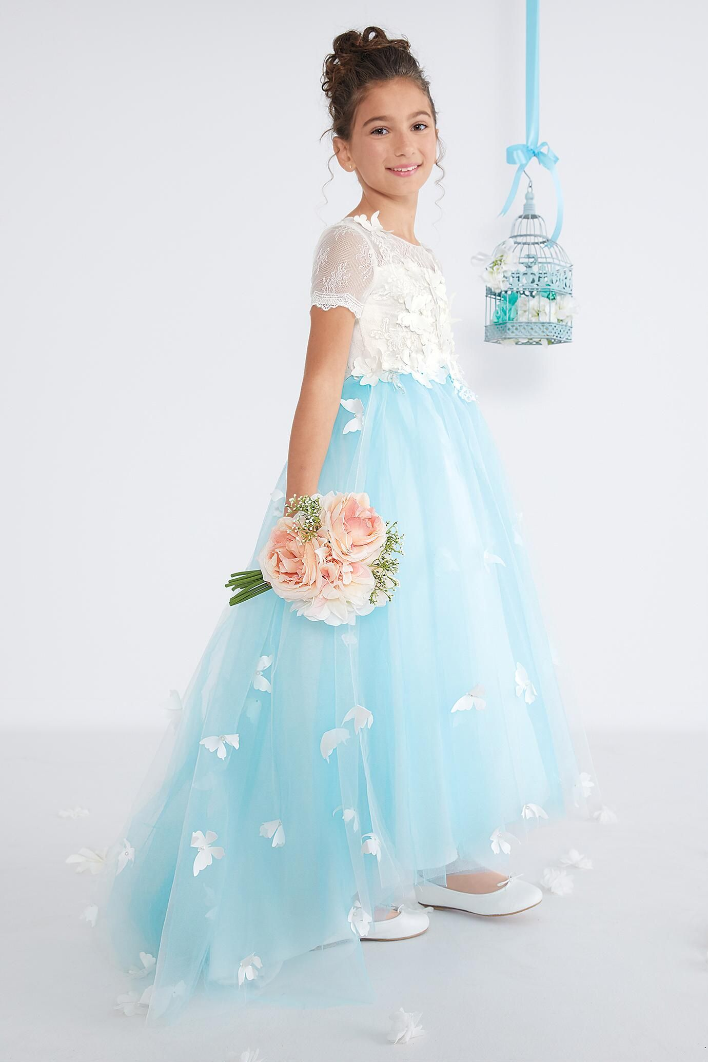 Girls Blue Sky Butterfly Dress Butterfly dress, Dresses