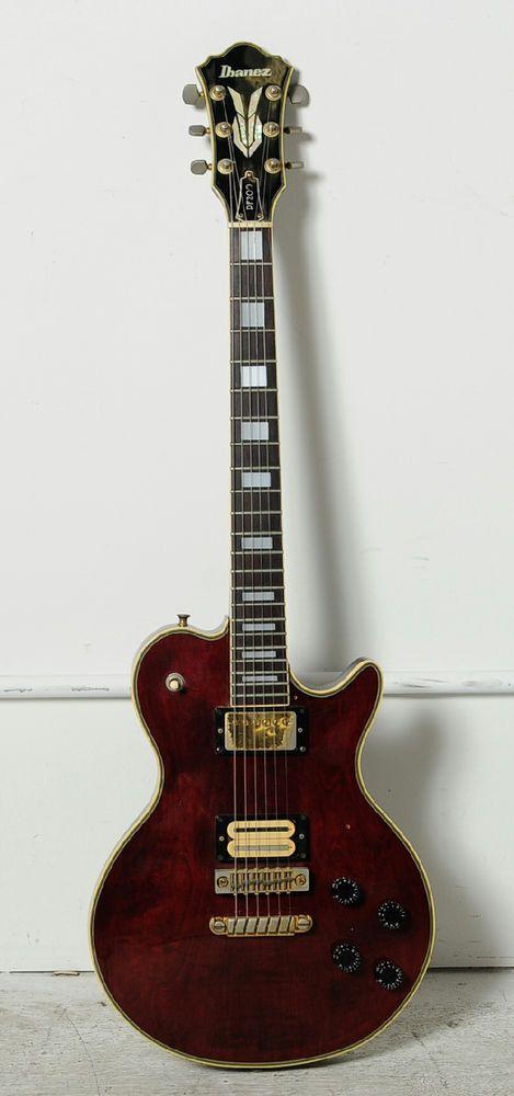 Vintage Ibanez Pf 200 Lawsuit Les Paul Electric Guitar Red Ibanez