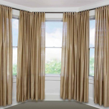 Bay Window Adjustable Curtain Rod For Windows 5 8 Diameter