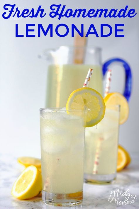 This homemade lemonade recipe is perfect for summer. This amazing summer drink is made with fresh lemons and has the perfect combo of sweet and sour. You will never buy powered lemonade again after trying this amazing homemade lemonade recipe! #homemadelemonaderecipes