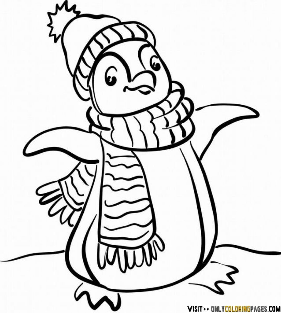 winter penguin coloring sheets - Heart.impulsar.co