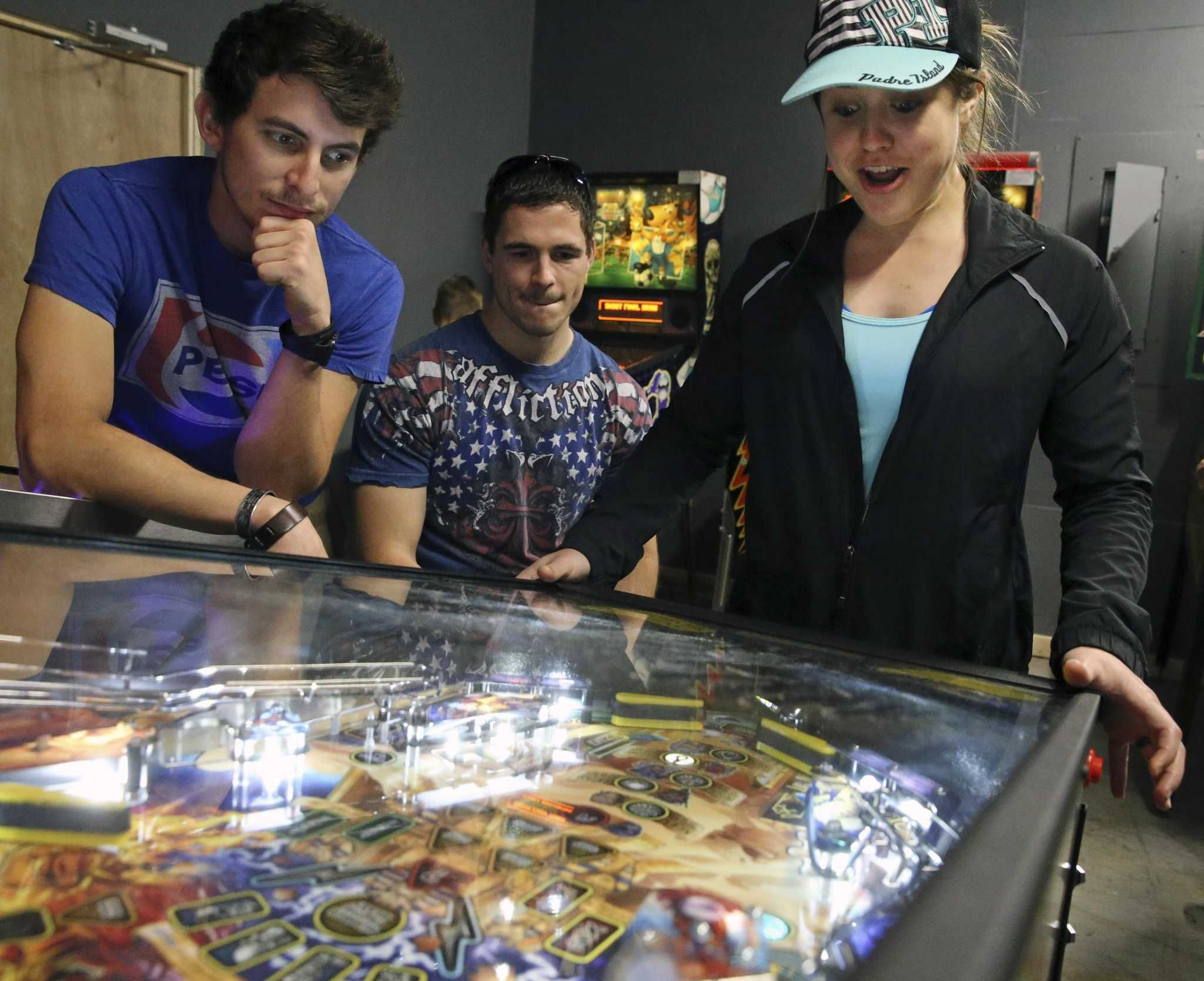 Where to play classic pinball and video games in San