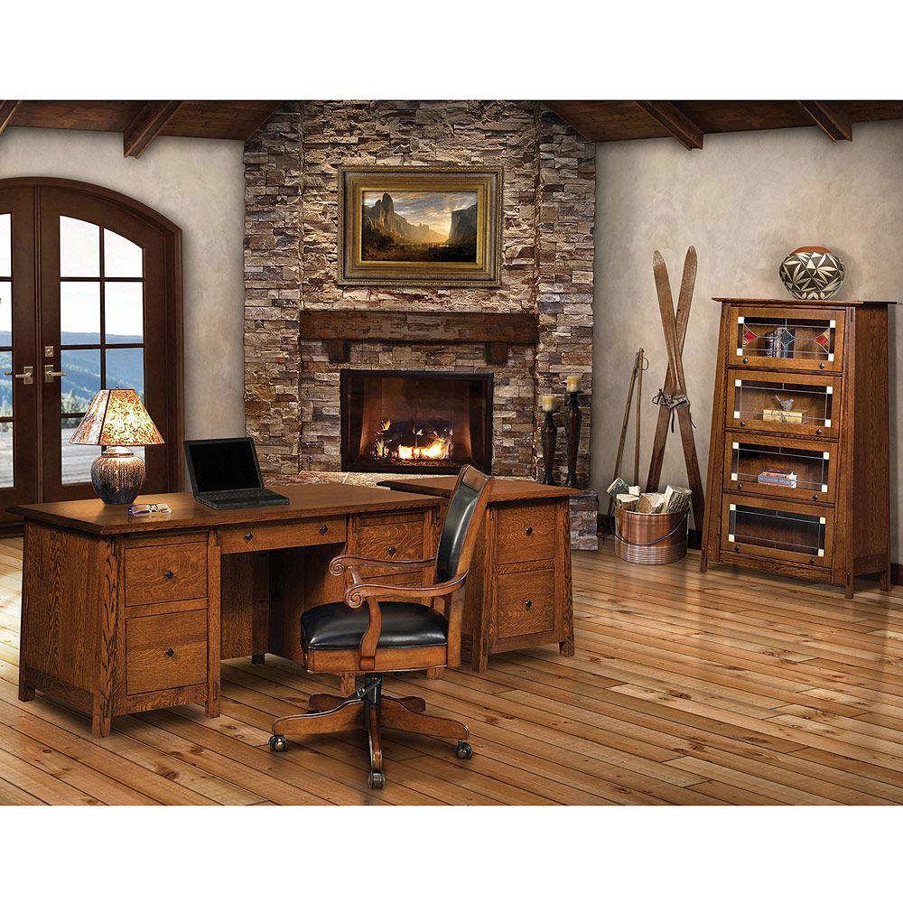 Colbran Amish Desk in 2020 Amish furniture, Real wood