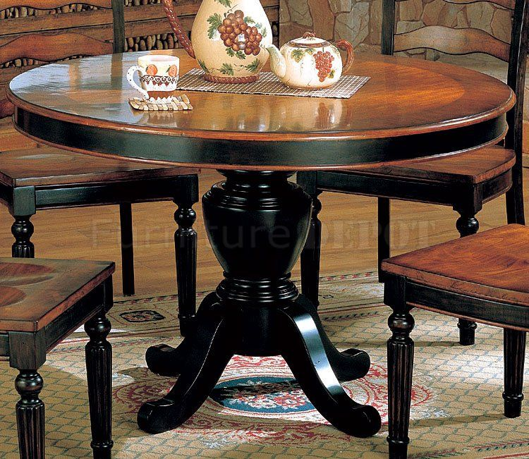 Greenwich Round Coffee Table Choice Of Size: Two-Toned Dining Room Furniture W