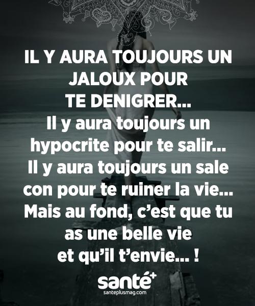 Il Y Aura Toujours Un Jaloux Pour Te Dénigrer Il Y Aura