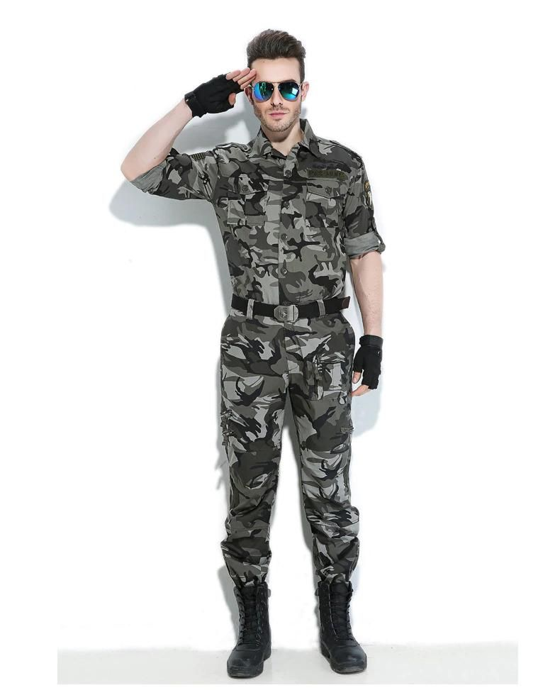 49a295f668c Cargo Pants Men Military Style Straight Trousers Tactical Camo Army Pants  Camo Joggers Multiple Pocket - 5 Colors