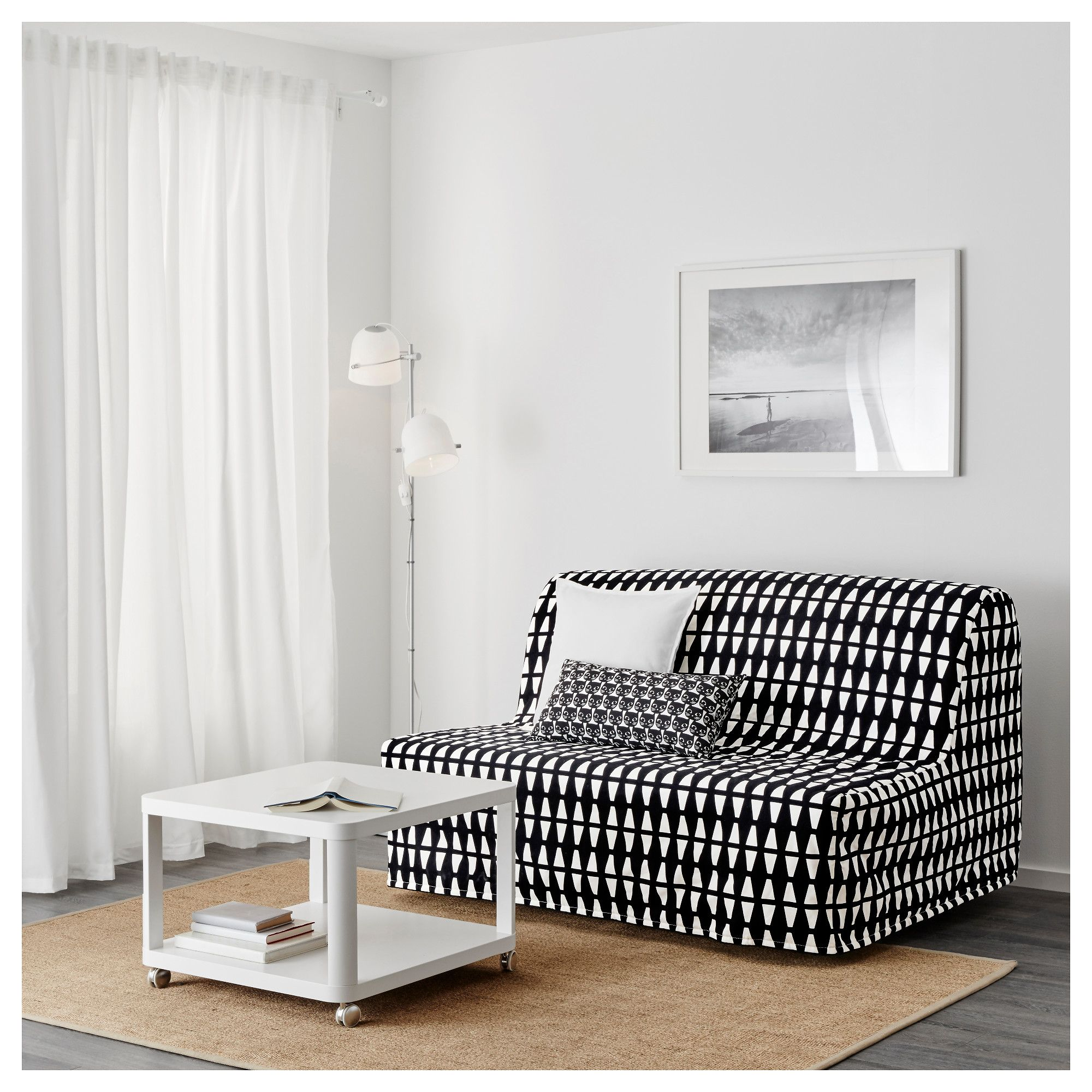 Ikea Bank Mit Lehne Lycksele HÅvet Two Seat Sofa Bed Ebbarp Black White Ikea Plannen