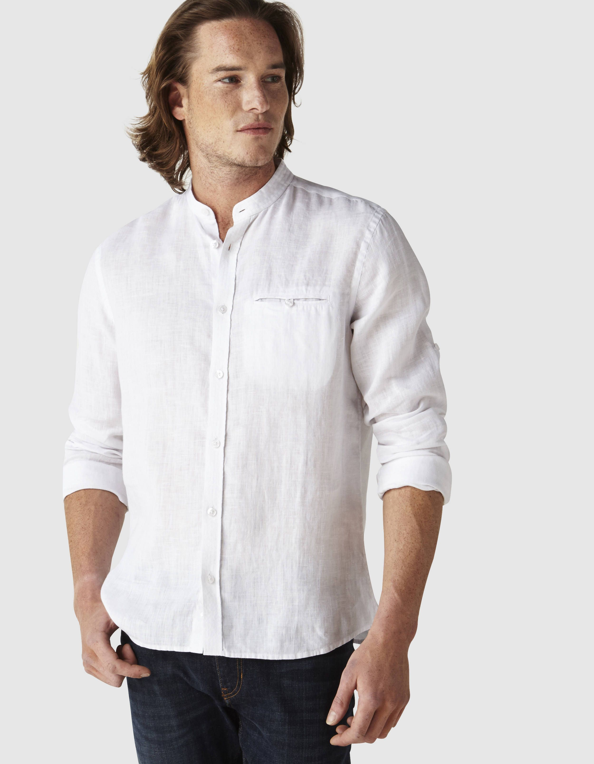 Chemise regular col mao 100% lin en 2019   Célio collection ... 0a1927ef620d