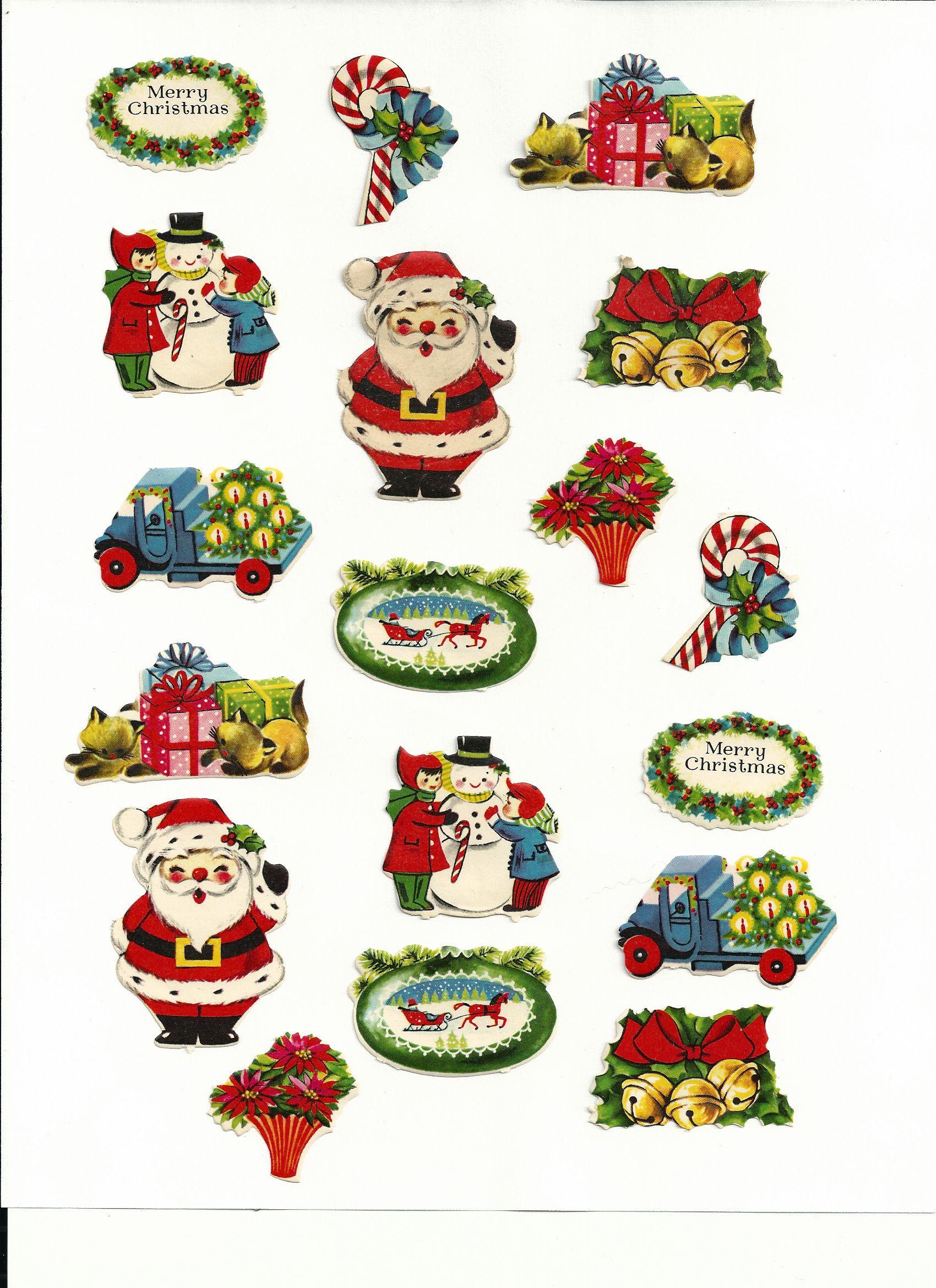 Pin By Linda Cattin On Vintage Christmas Christmas Packaging Christmas Stickers Vintage Christmas