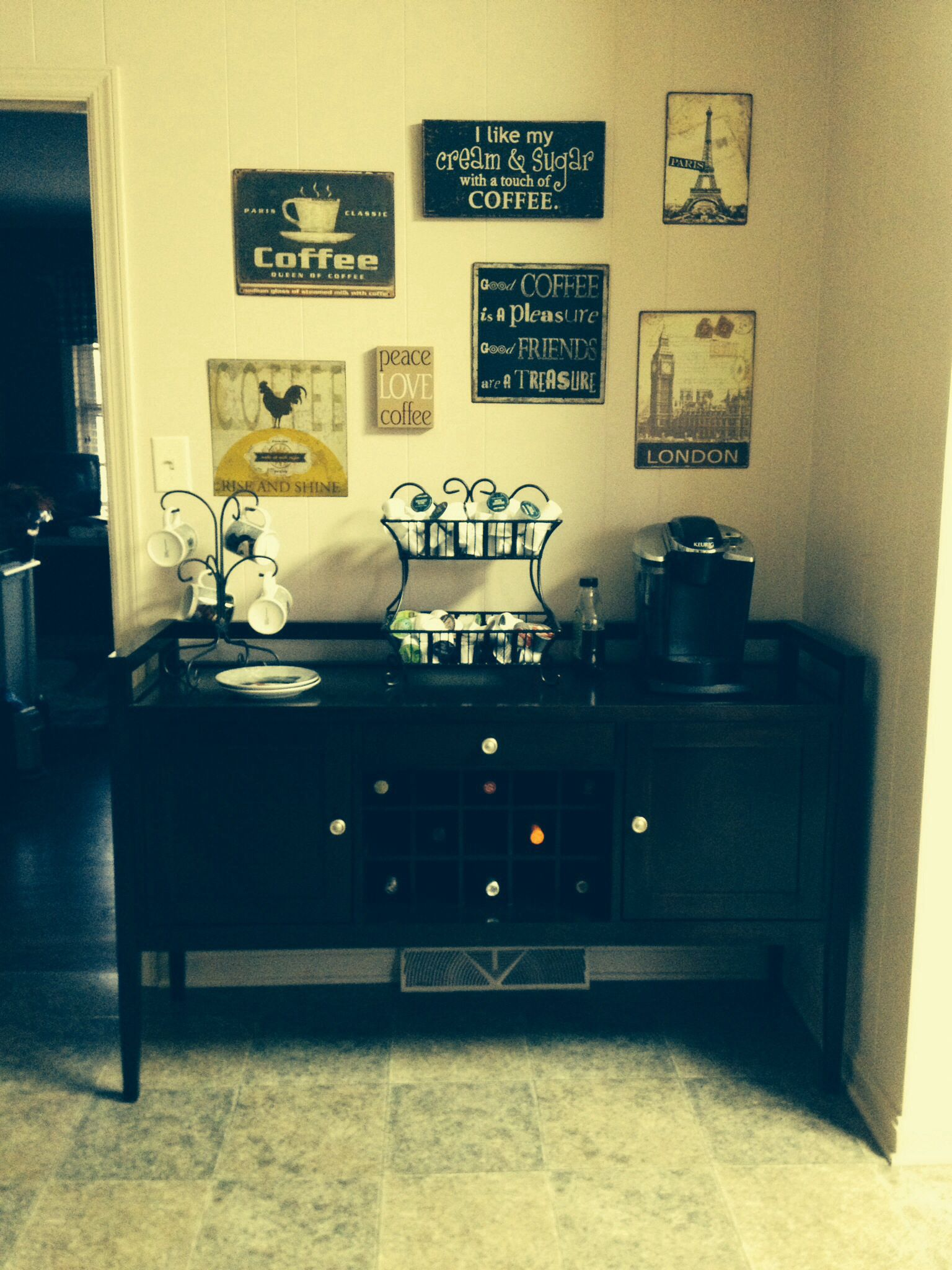 My Coffee station server from Designer's Choice Furniture