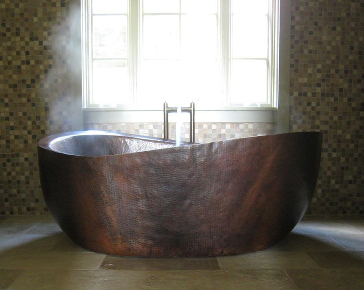 Deep Bathtubs | Client Gallery - Custom Copper Bathtub | Deep Copper ...