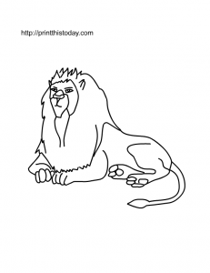 free printable lion coloring page  animal coloring pages