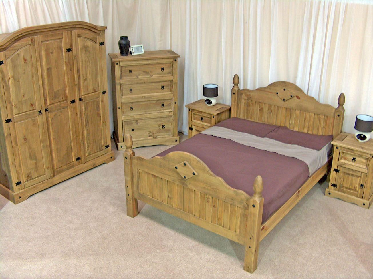 Mexican pine bedroom furniture wood is beautiful for Mexican furniture