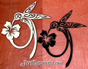 Scroll Saw Patterns :: Miscellaneous :: Tribal Style :: Tribal hummingbird -