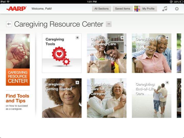 AARP Caregiving Resource Center (iPad app) Caregiver