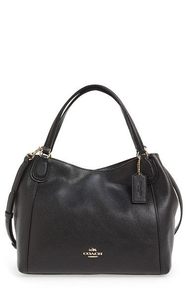 7721359db5 COACH  Edie 28  Pebbled Leather Shoulder Bag available at  Nordstrom ...