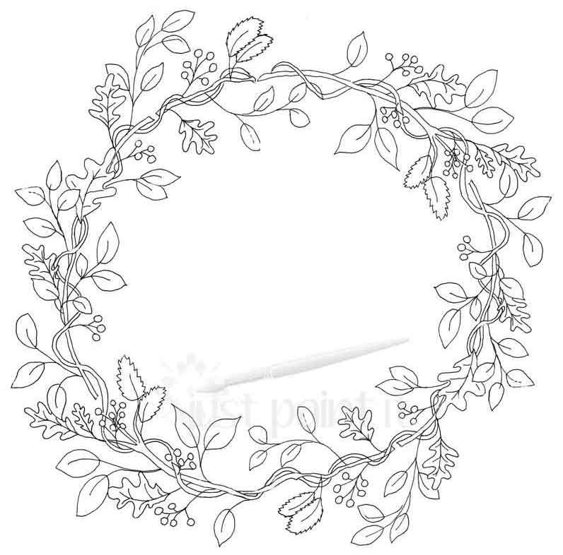 Fall Wreath Coloring Pages Kit Fall Coloring Pages Wreath