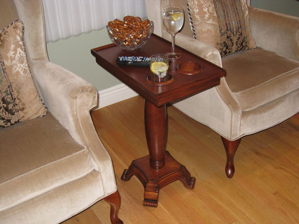 Chair Side End Table Server Oval Leg