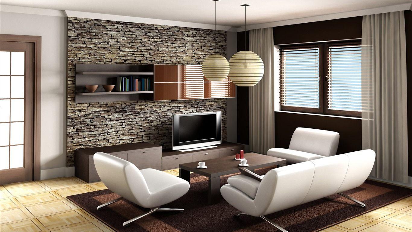 Salas Modernas Com Papel De Parede Veja Dicas E Modelos Sala  -> Papel De Parede Sala Ideias