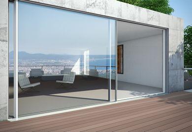 GLASS ON WEB Glass News New Frameless Panoramic Sliding Door
