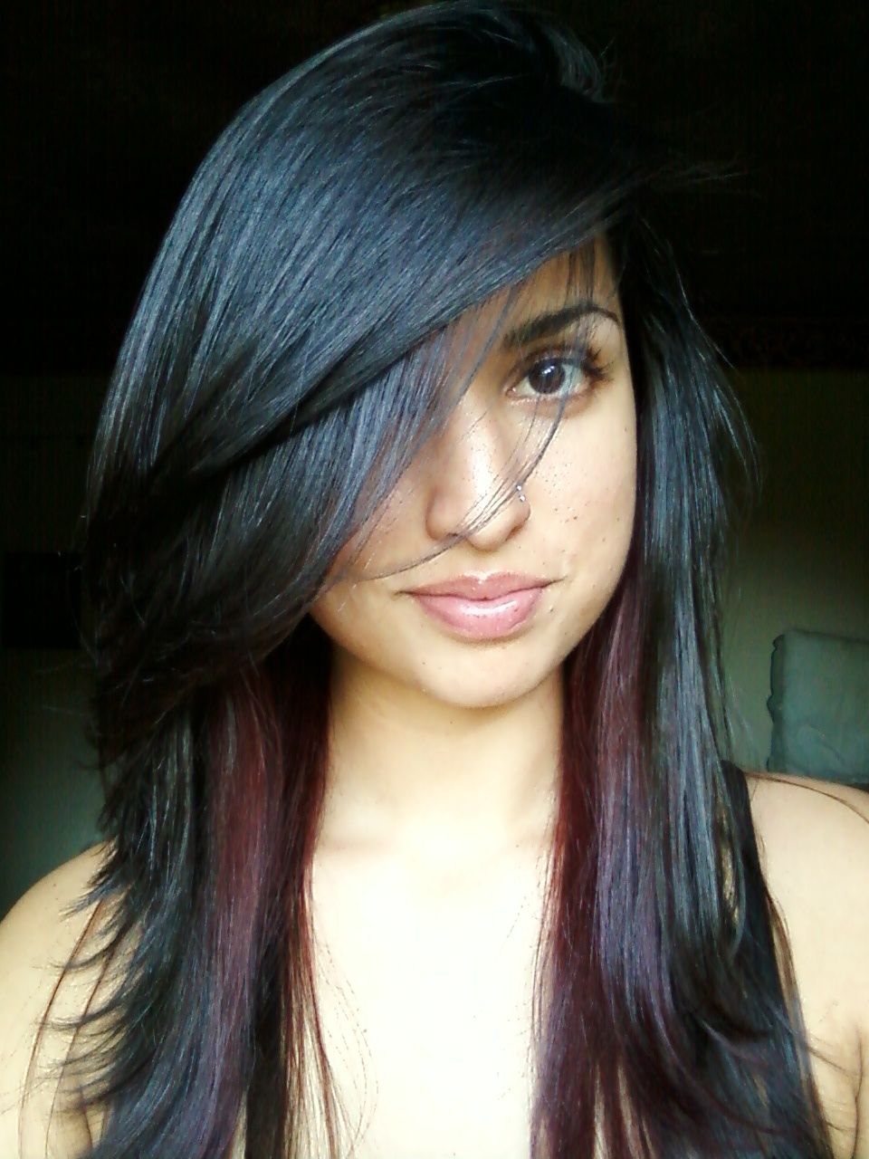Dark Brown Hair With Highlights Tumblr Highlights Peekaboo Pictures