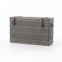 Living Room | Wicker Console Trunk