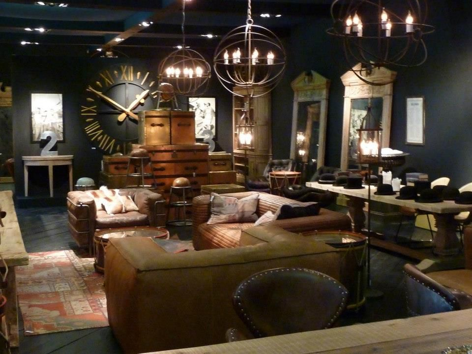 Steampunk tendencies timothy oulton design and decor for Steampunk living room ideas