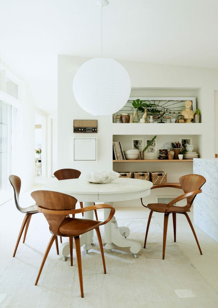 Lighting Makes the Room Dining room table, Globe and Spaces