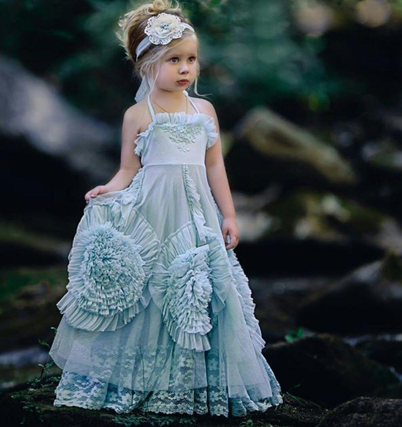 Lujoso Vestido Azul Polvoriento De La Boda Festooning - Ideas de ...